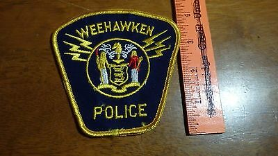 Vintage   Weehawken  Police Departme New Jersey  Obsolete Shoulder Patch Bx 10#9