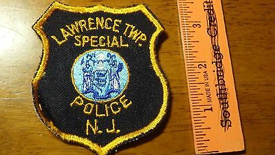 Vintage Lawrence Twp Special Police  New Jersey Obsolete Shoulder  Patch Bx E #1