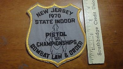 Vintage New Jersey 1970 Police Combat Law And Order    Obsolete Patch Bx 12#2