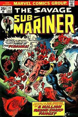 Sub-Mariner (1968 series) #71 in Very Fine + condition. FREE bag/board