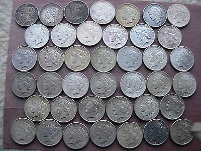 40 Peace Silver Dollars 2 Rolls 90% Silver Dollars