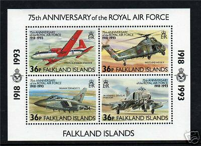 Falkland Is 1993 75th Anniversary of RAF M.S.SG680 MNH