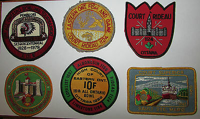 Vintage Independent of Foresters IOF Patches Pembroke Ottawa Sault Ste Marie +