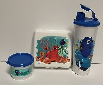 Tupperware Finding Dory Lunch Sandwich Cup Pour + Flip Pour Seal NEW
