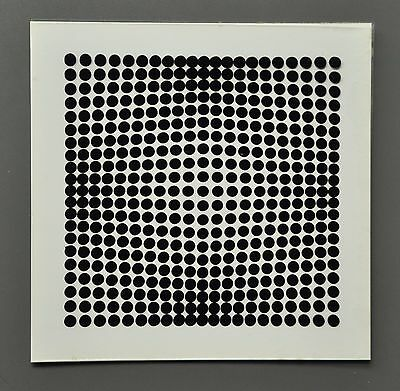 Victor Vasarely OEUVRES PROFONDES CINÉTIQUES II 1973 Op-Art Print 3-D 3D 27x27cm