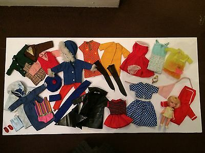 Vintage Barbie, Sindy and other clothes and accessories.