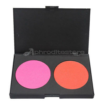 2 Colors Professional Blush Blusher Power Palette Beauty Cosmetic Makeup Gift