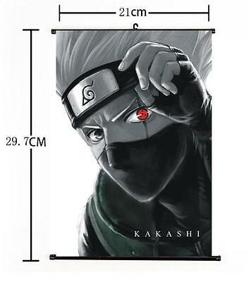 "Hot Japan Anime Naruto Kakashi Home Decor Poster Wall Scroll 8""x12"" 01"