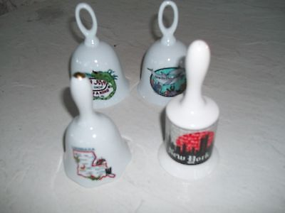 Lot Of Four Decorative Collectible Bells