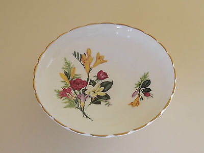 Vintage Floral Footed Bone China Candy Dish