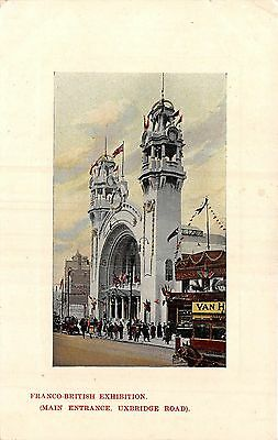 POSTCARD   EXHIBITIONS  1908  London  Franco British  Main  Entrance