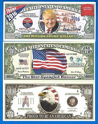 Trump 2016 Make America Great Again Fantasy Uncirculated Banknote Set