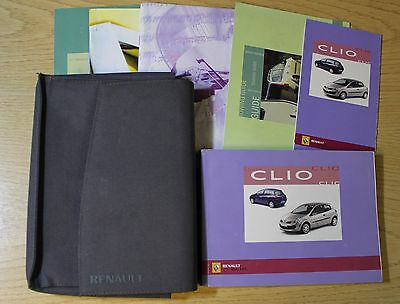 Renault Clio Owners Manual Handbook Wallet 2005-2009 Pack 5805