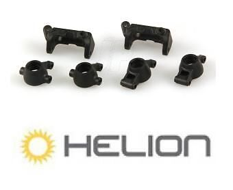 Helion HLNA0007 Caster & Steering Blocks, Rear Hubs Spare Part for Animus RC Car