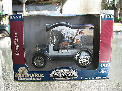 Ford Model T Delivery 1912 Die-Cast 1:24 Coin Bank, Remington Country,new In Box