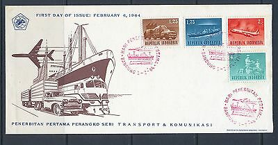 Indonesia 1964 SG 998-1000,1002  Transport on FDC