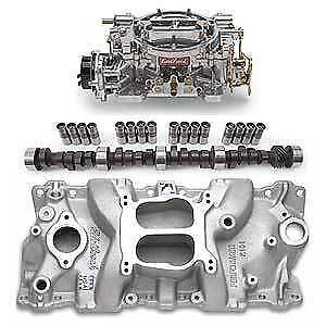 Edelbrock Performer Power Package; Intake Manifold, Carburetor and Cams 350 400