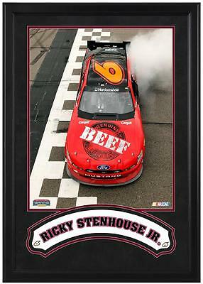 """Ricky Stenhouse, Jr. Framed Iconic 16"""" x 20"""" Photo with Banner"""