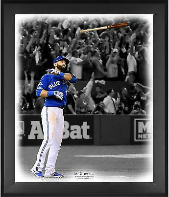 "Jose Bautista Toronto Blue Jays Framed 20"" x 24"" Bat Flip In the Zone Photograph"