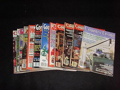 Lot of 12 Magazines - Good Housekeeping, Country Living  1981-2000