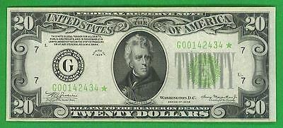 $20 1934 *HIGH GRADE CHICAGO STAR* Federal Reserve Note!