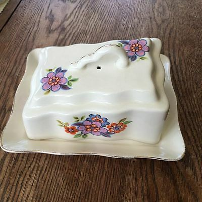 Vintage Romanian retro cheese or butter dish