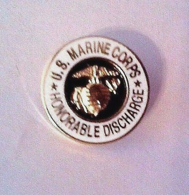 """U.S. Marine Corps Honorable Discharge Lapel Pin   5/8"""""""