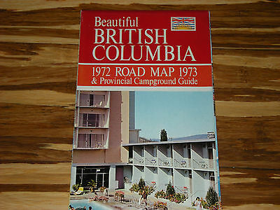 1972 1973 British Columbia Road Map & Campground Guide Bc Canada Map Canadian