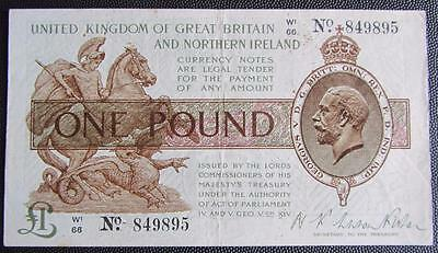 1927 FISHER ONE POUND NOTE -T34 - PICK 361a - W1 66  849895 -VF/GVF