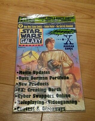 Topps Comics Star Wars Galaxy Magazine Issue 2 Winter 1995 plus extras