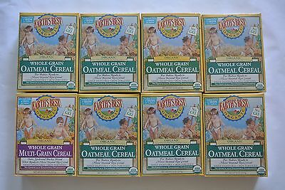 8 Boxes Earth's Best Organic Whole Grain Oatmeal Cereal Expire 2017