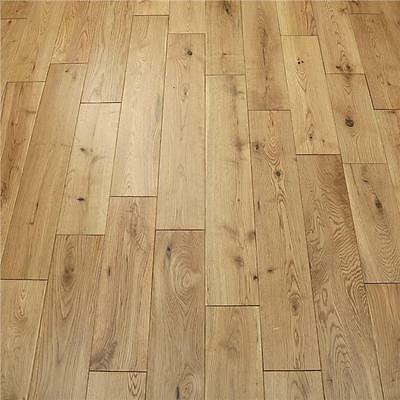 Solid Oak Structured Wood Flooring - Natural Lacquered - 18mm x 125mm