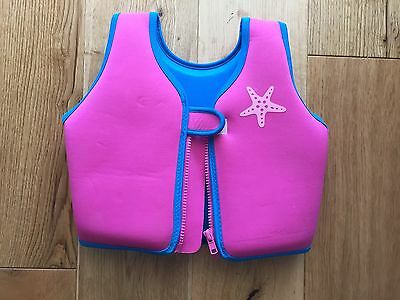Pink Zoggs Swim Jacket, Aged 2-3 Years