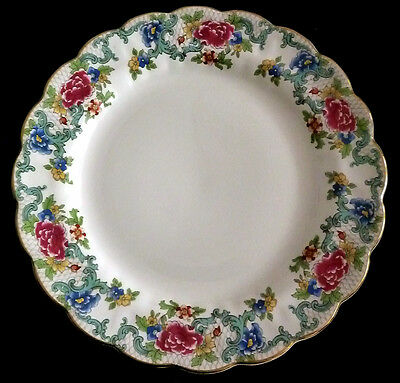 """1940s Booth's 9.5/8"""" Lunch Plate """"FLORADORA"""" Pattern A8042"""