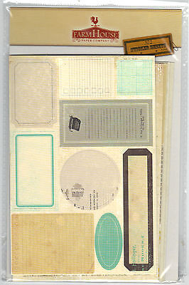 FarmHouse 302 VINTAGE (6) STICKER SHEETS scrapbooking Altered Art mixed media