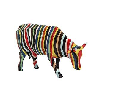 """Cow Parade""""STRIPED COW""""Character collectibles 2001  NEW Mini Figurine NYC 20286"""