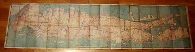 1905 Long Island New York Hammond Folding MAP