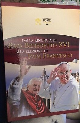 The resignation of Pope Benedict xvi to the election of Francis stamp & Coin set
