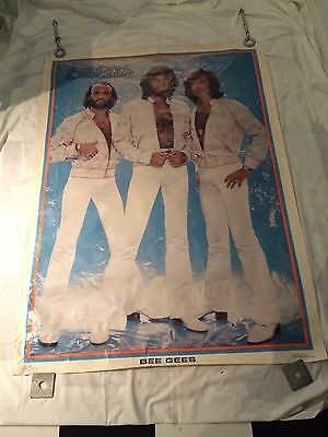 Vintage Huge Original 1978 The Bee Gees disco Poster Barry Gibb, Robin, Mauice