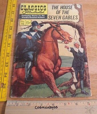 Classics Illustrated Comic #52 The House of the Seven Gables VG 1960's HRN 156
