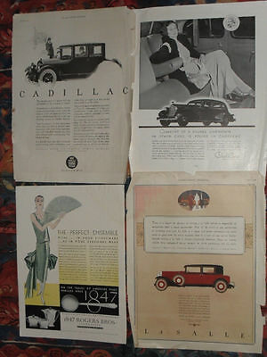 Cadillac advertising material from between 1905 – 1924