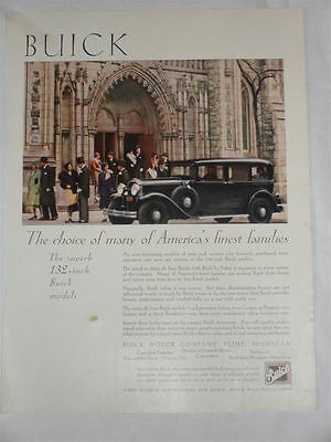 Buick Advertising Material 1930 The superb 132 inch Buick