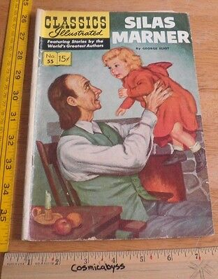 Classics Illustrated Comic #55 Silas Marner VG- 1960's HRN 165