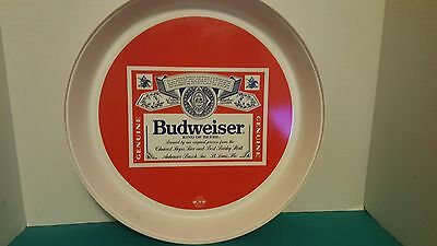 Budweiser King of Beers Label Plastic Serving Tray