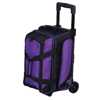 Ebonite Transport II Black/Purple 2 Ball Roller Bowling Bag