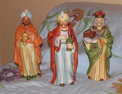 Homco Three Wise Men Kings to Nativity Set 5216 Excellent!