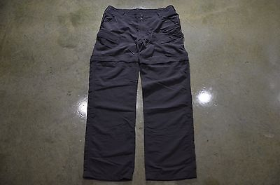 The North Face Women's Size 14 Gray Convertible Hiking Camping Cargo Nylon Pants