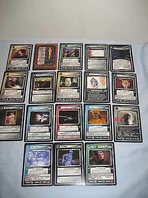 Star Trek CCG 1E THe Fajo Collection Full set of 18 cards never used