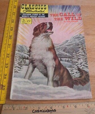 Classics Illustrated Comic #91 The Call of the Wild VG- 1960's HRN 165