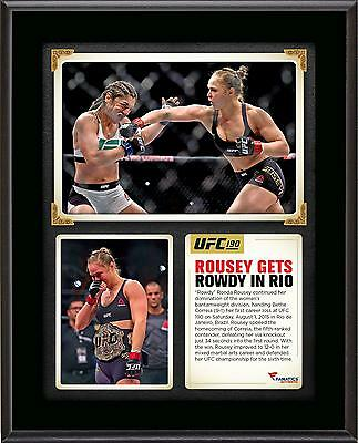 "Ronda Rousey Ultimate Fighting Championship 10.5"" x 13"" UFC 190 Champ Plaque"